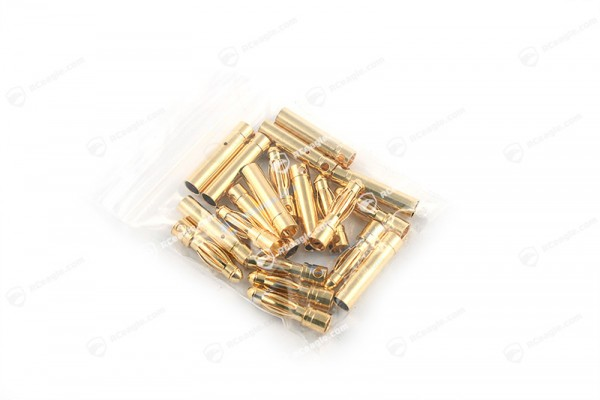 4mm Goldkontaktstecker Hochstromstecker 10 Paar Stecker/Buchse Set