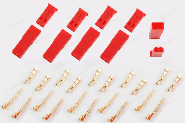 5 Paar JST Stecker Buchse Set vergoldet, BEC Crimp Gold, 7,4 Lipo Connector