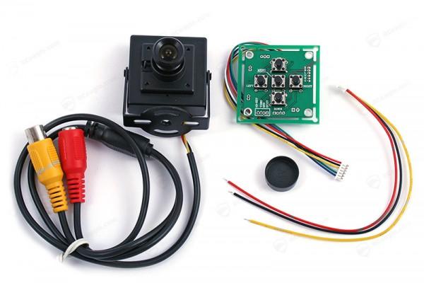 FPV Kamera Sony 700 TVL CCD OSD-Menu 1/3 PAL Mini Camera EFFIO-E wie FatShark