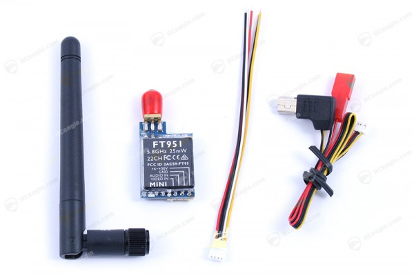 Audio/Video 5.8G Mini Sender FPV 25mW 22Ch FT951 Transmitter TX
