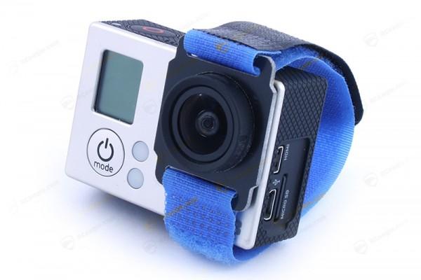 GoPro Hero 3 Klettband mit Objektivhalterung Gimbal Velcro Strap Multicopter FPV