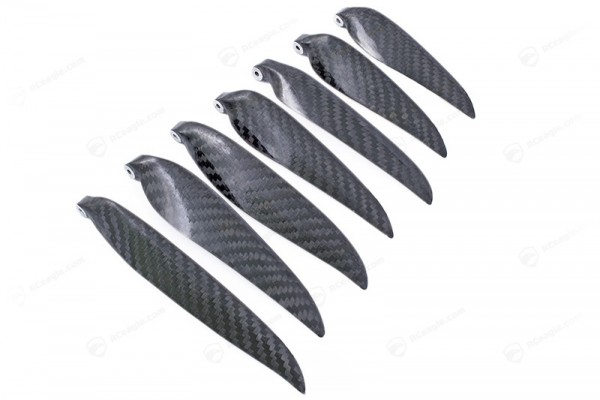 1Paar Carbon Klappluftschraube - Sichtcarbon 3K CFK Folding Klapp Propeller