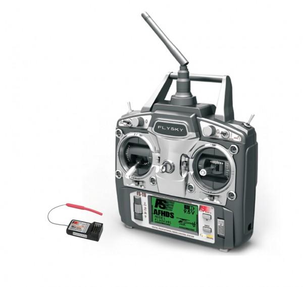 FlySky FS-T6 2,4Ghz Fernsteuerung 6 Kanal inkl. FS-R6B Empfänger Transmitter Receiver