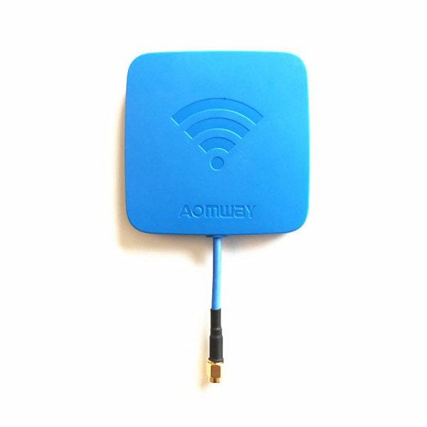 Aomway 5.8GHz Patch Antenne 14Ddbi SMA zirkular polarisierend blau