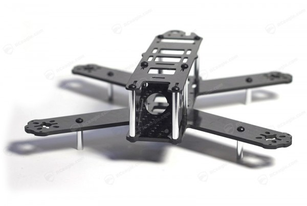 Lisam LS-210 Carbon Quadrocopter Rahmen inkl. Powerboard, 5x4.5 Bullnose Propeller