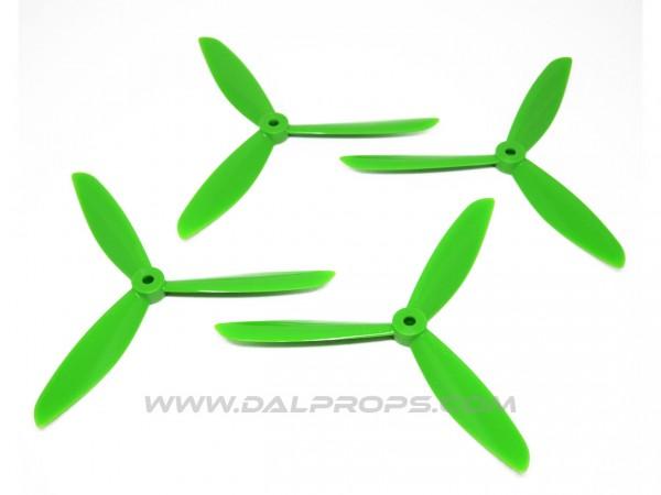 3-Blatt 6x4.5 DAL Propeller 6045 Tri Blade 2xCW 2xCCW Grün green