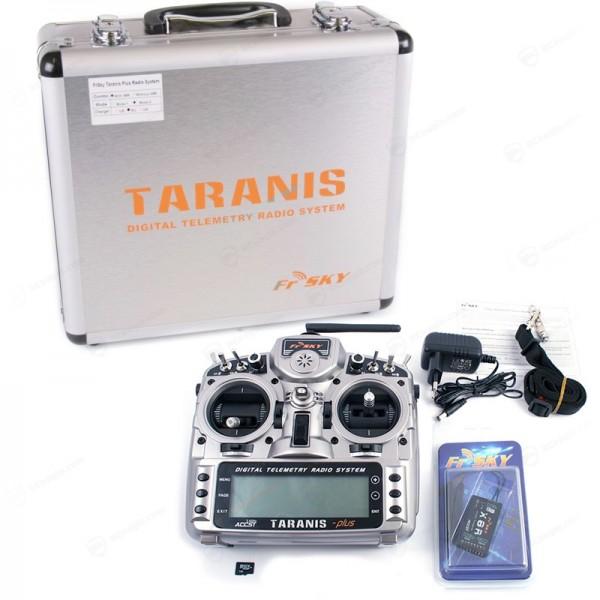 FrSky Taranis X9D PLUS Mode 2 EU/LBT + X8R PCB Empfänger 16CH Telemetry 2.4G + Alu Koffer