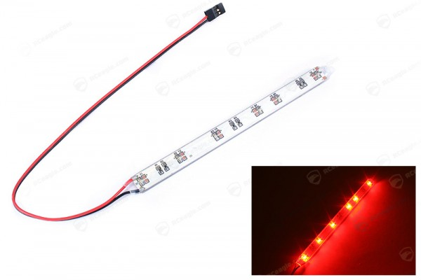 LED Streifen Rot 14cm JR Stecker Positionslichter Quadrocopter Multicopter