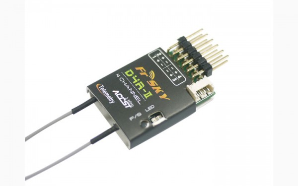 FrSky D4R-II - 2.4GHz 4-Kanal Empfänger mit Telemetrie ACCST Receiver