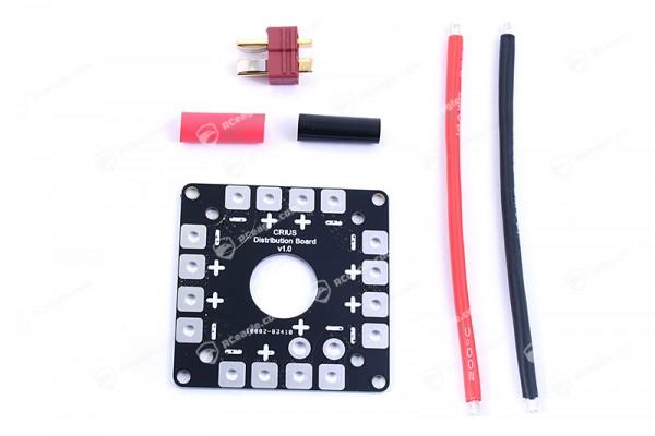 Stromverteiler 2-8 Power/ESC Distribution Board inkl. T-Stecker, Silikonkabel, Schrumpfschlauch