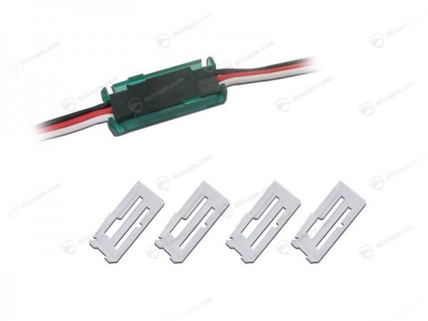 4 Sicherungsclip für Servo Stecker Futaba Graupner JR Sicherung Clip Servokabel