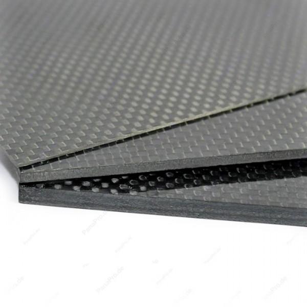 3K Carbon Platte Glänzend / Plate Glossy 3mm