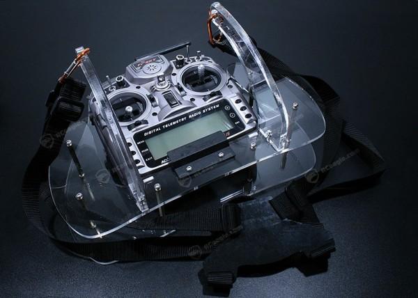 Senderpult f. FrSky X9D Plus Taranis mit Gurt Tray Plexiglas Kit