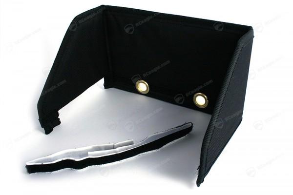 Sonnenblende für 7 Zoll Monitor Universal FPV Gegenlichtblende mit Aussparung für Kabel und Antennen