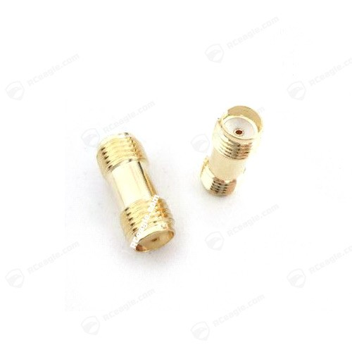 SMA Buchse / SMA Buchse - Adapter Gold für Antennen Female