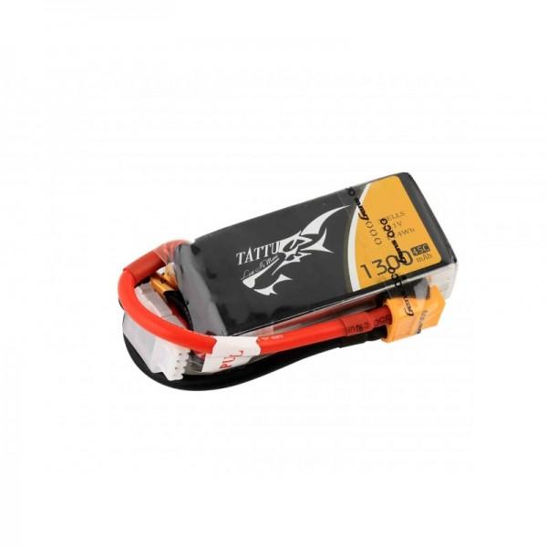 TATTU 1300mAh 11.1V 45C 3S1P Lipo Batterie Akku