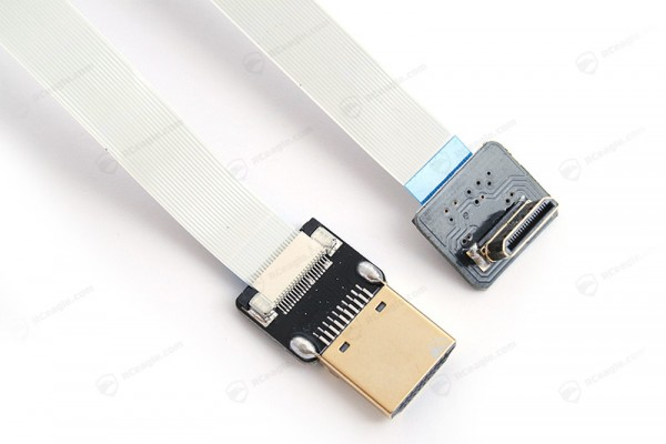 Mini HDMI to HDMI Cable Soft Gimbal Mount