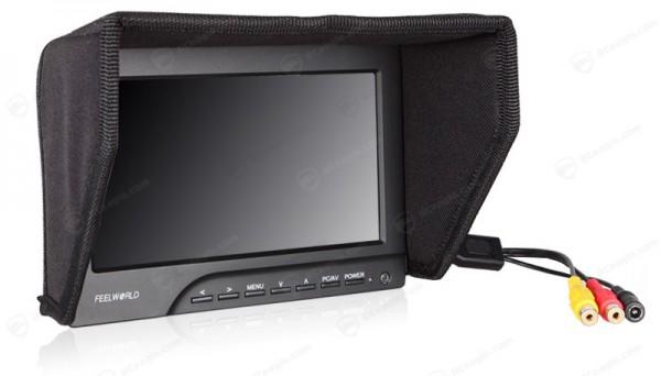 FPV Monitor 7 Zoll 800x480 inkl. Sonnenblende