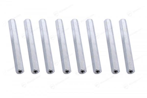 M2,5 Abstandshalter Aluminium 8x 37mm Innen-Innen Distanzbolzen