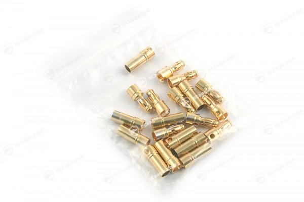 3.5mm Goldkontaktstecker Hochstromstecker 10 Paar Stecker/Buchse Set